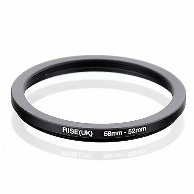 RISE(UK) 58-52-58-52mm  Matel Step Down Ring Filter Camera Adapter 52-52