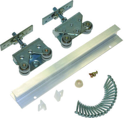 Johnson Hardware 200721DR Pocket Door Hardware Set, For Use With 1-3/8 in Thick