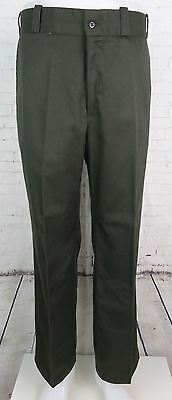 Vtg Olive Green 1960s Straight Leg Perma Prest Sears USA Trousers Mod W33 DW27