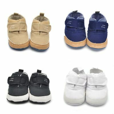 Newborn Baby Towddler Crib Boots Shoes Canvas Soft Sole Boy Ankle Sneaker 9-12M