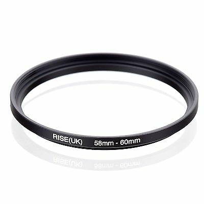 RISE(UK)58-60 58-60mm 58mm to 60mm Matel Step Up  Ring Filter Adapter