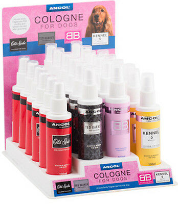 ANCOL-Cologne/Perfume for Dogs & Puppies, 100ML, 4 Fragrances, Free P & P.