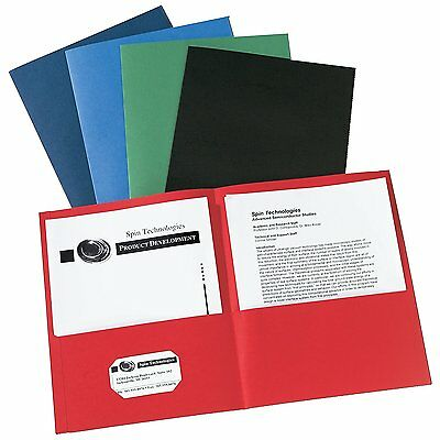 Avery Two-Pocket Folders, Assorted Colors, Box of 25 47993