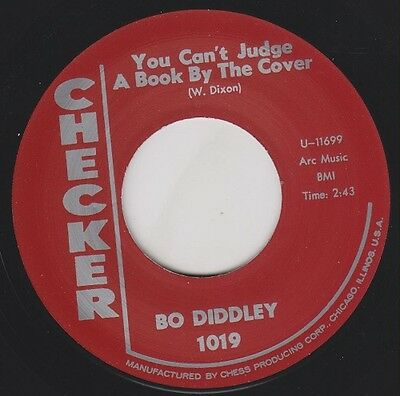 "BO DIDDLEY You Can't Judge A Book / I Can Tell CHECKER 7"" Re Primordial R&B HEAR"