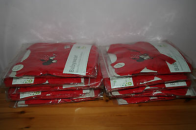 WHOLESALE JOB LOT 10 x DISNEY BABY RED MINNIE MOUSE 3PC DRESS SETS