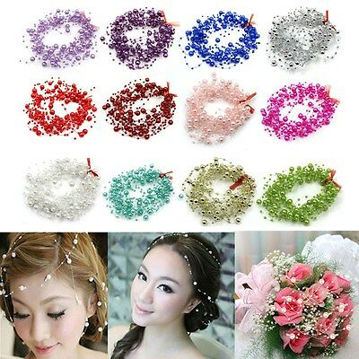 5M Pearl Garland String Beads Cake Floral Decoration Wedding Party Celebration