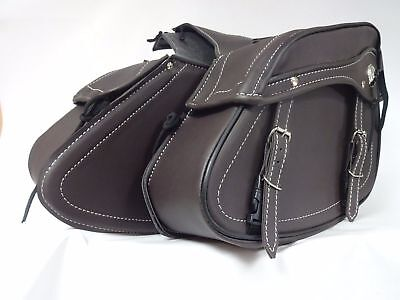 Motorcycle Xtrm 30L Saddle Bags Motorbike Luggage Panniers Brown No4 New Style