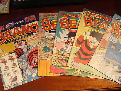 5  X Beano Comics - March 2002 - Excellent Condition