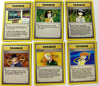Pokemon Tcg Card Game Gym Heroes Set Of 6 X Trainer Ass Nuovi New