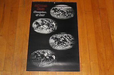 Vintage The Harness Horse Champions of 1965 Calendar is 1966 With Photos