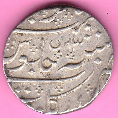 French India-Arkat(Full) Mint-Ry:43-Shah Alam-One Rupee-Rarest Silver Coin-14