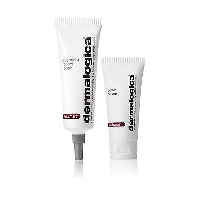 New Boxed Dermalogica Age Smart Overnight Retinol Repair 30ml & Buffer Cream 15m