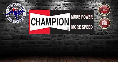 Champion Plugs  Banner Mancave Shed Personal Name  Bar Sign 1200Mm X 450 Mm