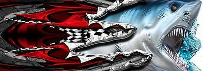 Manic Shark Attack Half Wrap  Boat Wrap (Includes Left And Right ) Profiles