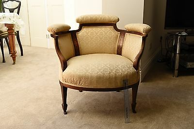 Edwardian Mahogony Parlour Tub Chair