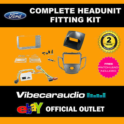 Connects2 CTKFD13 Ford Fiesta 2010> Graphite & Grey Fascia Stereo Fitting Kit