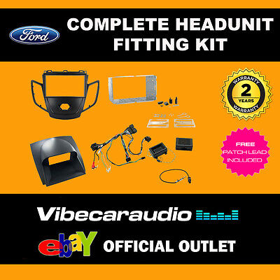 Connects2 CTKFD16 Ford Fiesta 2010> Black & Grey Fascia Stereo Fitting Kit