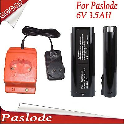 2X Batteries For Paslode 6V 3.5Ah Nail Gun IM200 IM250 CF325+ battery charger AU