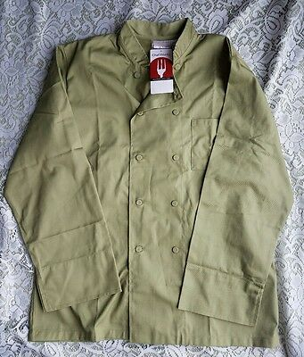 Chef Works Chef Jacket Culinary Olive Green Size Large New With Tags