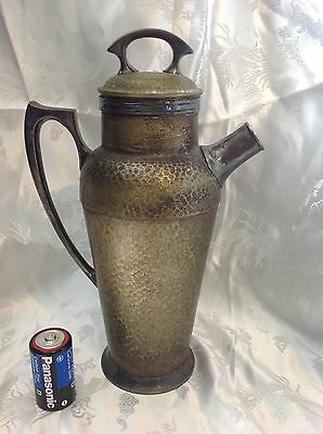 Antique Vintage Derby Silverplate Cocktail Shaker Pitcher 1903 Hand Beaten