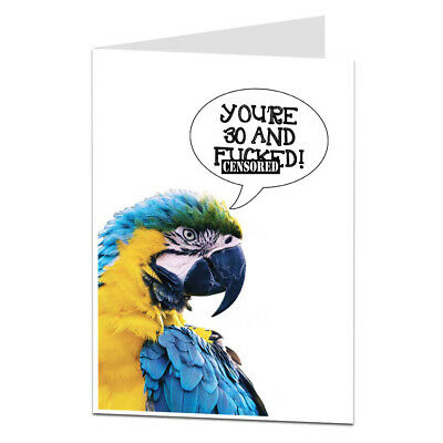 Funny Rude Offensive Age Joke 30th Birthday Card 30 Thirty Today Men Women