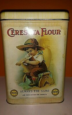 Vintage Ceresota Flour Tin Can Standard Milling Co. Nice Colors Not Faded