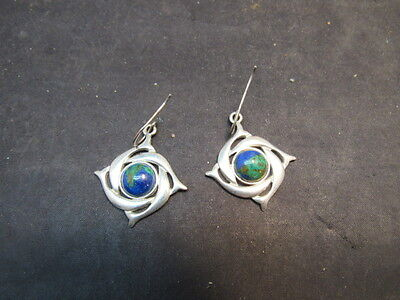 vintage dolphin signed earrings