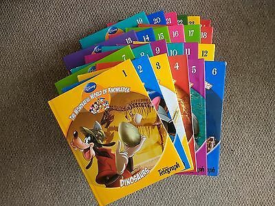 Disney The Wonderful World Of Knowledge Books Encyclopedia - 24 Books