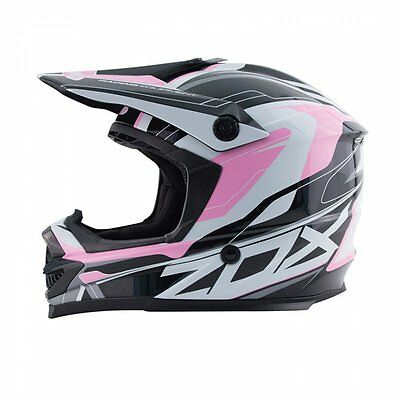 ZOX Rush Pulse Pink Helmet Ladies SIZE SMALL