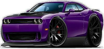 Dodge Challenger HELLCAT SRT Supercharger 707 HP Wall Decal Game Room Graphics
