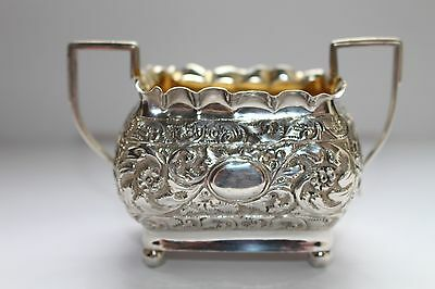 Solid Silver Antique Sugar Bowl/other  London 1888