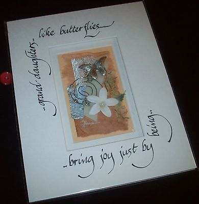 "Calligraphic Art By Judy Harper - Grand Daughter..Like Butterflies - 8"" X 10"""