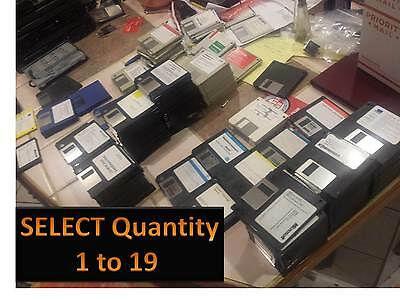 """LOT 3.5"""" High Density Floppy Disk  USED Quantity 1 to 19   Free shipping"""