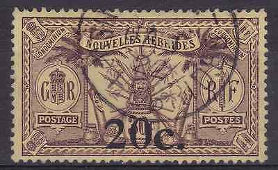 NEW HEBRIDES (FR) - 1921 - Idols & Weapons. 20c. on 30c. Brown/yellow. Fine used