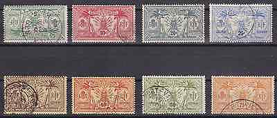 NEW HEBRIDES (FR) - 1913 - Idols & Weapons. Short set, 8v. Fine used (CV $238)