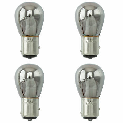 4x Chrome Amber Large Bulb 1157 BAY15D 15mm Lamp 12v 21W/5W Turn Signal Light