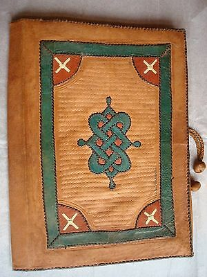 Antique Handmade Leather Organizer Book Cover Military Officer Martin Planes