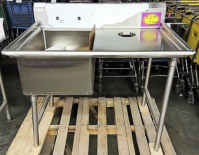 WinHolt - Stainless steel sink with drainboard and garbage hole NEW