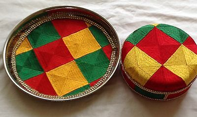 New Indian Wedding Maiyan Phulkari Multicolour Design Set Of Containers