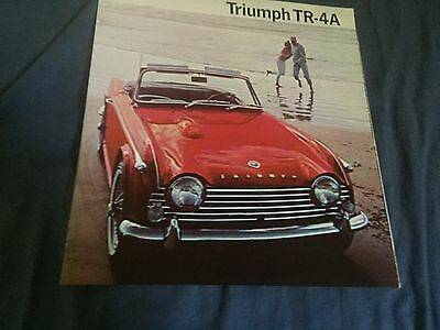 1968 Triumph TR4A Roadster Convertible Original Color Brochure Prospekt