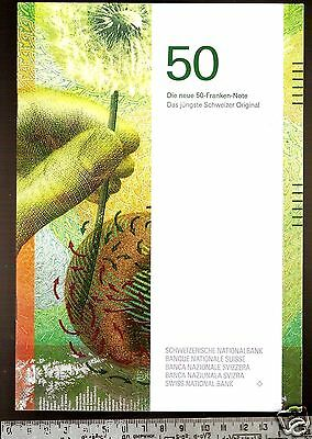 Swiss Bank booklet, 24 pages, about the new Switzerland 2016 50 Francs in German