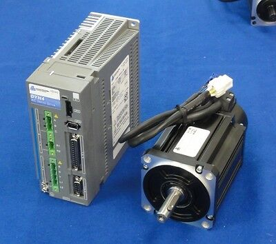 DYN4 AC Servo Motor and Drive 0.75kW 1-axis kit 3m cable CNC router mill mach3