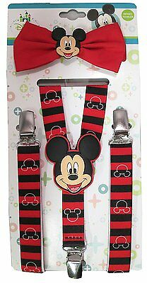 Disney Mickey Mouse Striped Suspenders and Bowtie Set - Toddler Boys - MMX56883