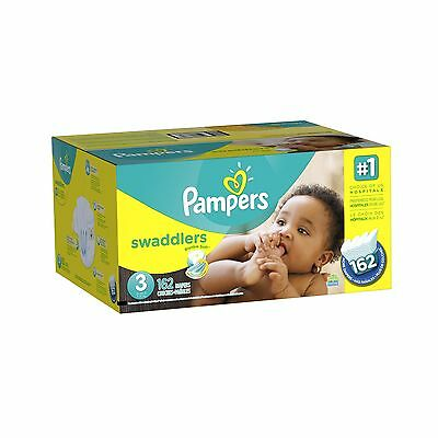 Pampers Swaddlers Diapers Size-3 Economy Pack Plus 162-Count- Packaging May V...