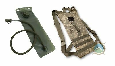US Military MOLLE Hydration Carrier Backpack ACU preowned with New 3L Bladder