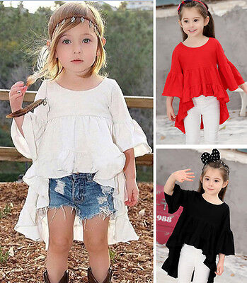 Baby Girl Kids Toddler Party Dress Wedding Formal Summer Outfit Tops Skirt 1-7Y