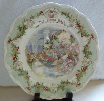"""Royal Doulton Brambly Hedge ~ The Snowball 8"""" Collectors Plate By Jill Barklem"""