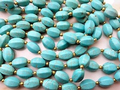 Vintage Old Pawn Navajo Blue Turquoise Sterling Silver Triple Strand Necklace