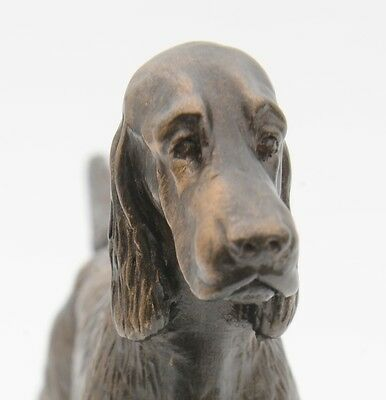 Irish Setter Standing - Small Cold Cast Bronze Dog Statue - Figurine - Sculpture