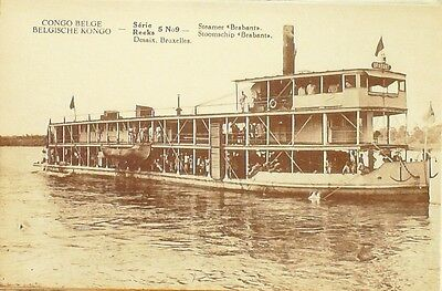 Cpa-A304-Steamer Brabant-Congo Belge-1913